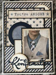 Sivsko.com: Konfirmation 2018 #2... Confirmation Cards, Diy And Crafts, Paper Crafts, Marianne Design, Anna Griffin, Cards For Friends, Masculine Cards, Tim Holtz, Making Ideas
