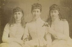 Maud, Louise, and Victoria of Wales.
