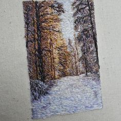 More work in progress-ing on this needlepainting #embroidery #handembroidery #needlepainting #embroideryart #makersgonnamake #landscape #landscapelovers #handmade #fiber #miniature #art #fiberart #textile #travel #travelmemories #nomad #passionpassport #doyoutravel #nature #landscapeart #naturelovers #winter #finland #nordic #tampere #forests
