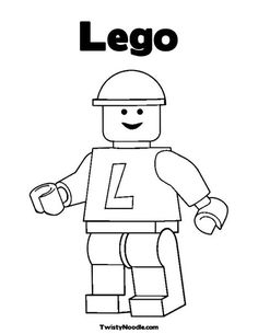 Lego Coloring Page from TwistyNoodle.com