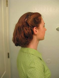 Faux Short 1940's Hair Tutorial. How to fake a vintage shorty style with extra long locks (will work with shoulder length and longer)