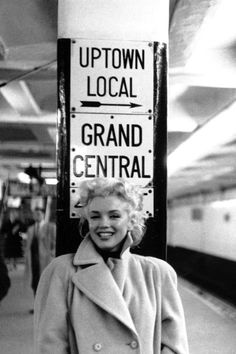 28 Rare Photos of Marilyn Monroe You Must See | Daily Makeover 1955 The photo was taken in a New York City subway station.  Read more: http://www.dailymakeover.com/trends/hair/marilyn-monroe/#ixzz3LnK5tBWz