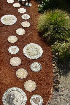 Stepping Stones Leading To Spritual Retreat