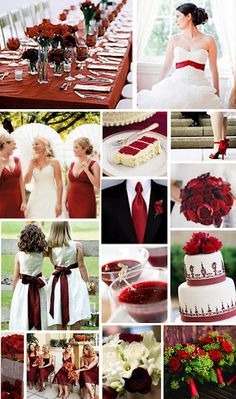 Garnet wedding color scheme-I'm really liking the idea of a lemon-raspberry theme (colors and flavor for the cake!)