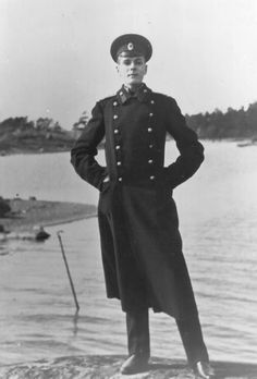 """Prince Vladimir """"Volodia"""" Pavlovich Paley-Romanov in full uniform, September 1914, when he was joining the imperial army and was sent to the German front."""