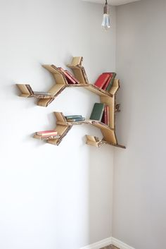 Break The Mold With A Treeshaped Shelf For Your Books Etsyfinds - Corner tree bookshelf