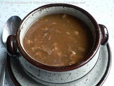 Ox tail soup, made from the very best part of an ox. Why, of course it's tail.