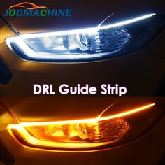 Ultrafine DRL 30 45 Daytime Running Light Flexible Soft Tube Guide Car LED Strip White Red Turn signal Yellow Waterproof Bar Lighting, Strip Lighting, Driving Safety, Light Board, Headlight Assembly, Car Brands, Car Lights, Led Strip, Car Accessories