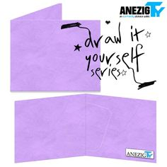 Purple Draw It Yourself wallet