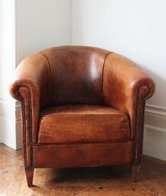 Gorgeous Leather Club Tub Chair