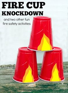 3 Fire Safety Awareness Week Activities on Lalymom.com - Talk to your kids about fire safety and have fun at the same time. How fun would this be! Also great for a fire fighter themed birthday party  #firesafety #fireprevention #firesafetymonth #education #tips #safety #kids