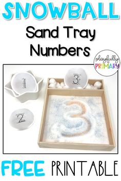Montessori sand tray numbers for letter formation practice and fine motor skills. Montessori Trays, Montessori Activities, Kindergarten Activities, Preschool Activities, Motor Activities, Senses Activities, Snow Activities, Holiday Activities, Number Formation