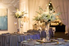 Anna and Spencer Photography, Wedding Reception Floral Arrangements by Darryl Wiseman in Atlanta.