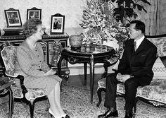 8 August 1988: Thailand's King Bhumibol Adulyadej is visited by Britain's Prime Minister Margaret Thatcher at Chitralada Palace in Bangkok
