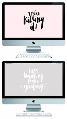 brush lettered free desktop wallpapers