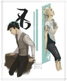 Will Herondale and Emma Carstairs ~ I understand why the artist put these two characters together now that I've read Lady Midnight