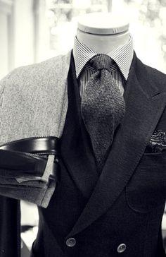 Nuance de gris #Gentleman #Outfits ✦ @Turfu75 ✦
