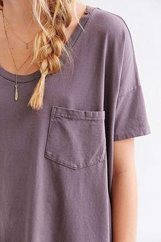 His tshirt but a bit more lavender color