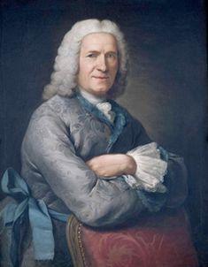 Portrait of Jean Revel, Donat Nonnotte, France, 1748, oil on canvas, 79 x 64 cm. Lyon, Musée des Tissus et des Arts Decoratifs.