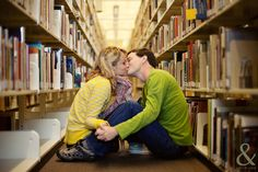 Engagement photos- Library