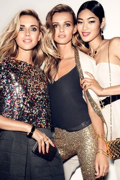 It's time to shine! Multi-colored & metallic sequins make a sparkling statement. | Party in H&M
