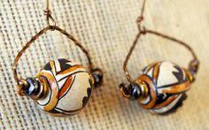 Handmade Peruvian Ceramic and Vintage Bronze by MLRanchJewelry, $40.00