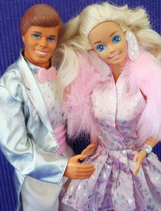 Superstar Barbie and Ken.... One of the two Ken dolls that I had.