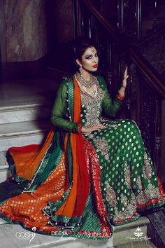 Green & Red - Perfect for a mendhi!