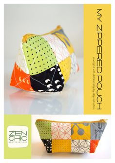 PDF-tutorial for making a zippered pouch