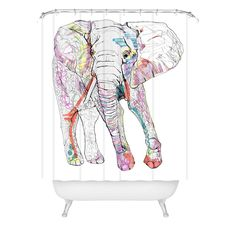 Casey Rogers Elephant 1 Shower Curtain | DENY Designs Home Accessories