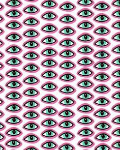 Eyes pattern from bouffantsandbrokenhearts