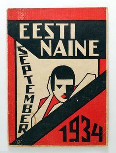 1934 Estonia AVANT GARDE cover Eesti NAINE women's by PIXSTOCK