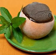 Recipe for Chocolate Sorbet with a vanilla and orange sauce - serve the next time you have guests over