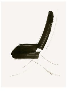 Lovely minimalist ink painting of a chair, by Aurore De la Morinerie (French).  http://www.auroredelamorinerie.com/medias/110-FURNITURE/design012.jpg