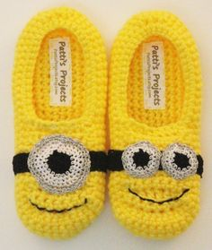 Hey, I found this really awesome Etsy listing at https://www.etsy.com/listing/239337732/minion-inspired-childrens-slippers