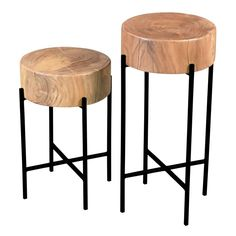 Gorgeously crafted of thick, natural acacia wood, this Moes Home Bruno End Tables - Set of 2 is a stunning add-on to your home décor. Furniture Deals, Furniture Makeover, Home Furniture, End Table Sets, Sofa End Tables, Side Tables, Occasional Tables, Rustic Farmhouse Furniture, Moe's Home Collection