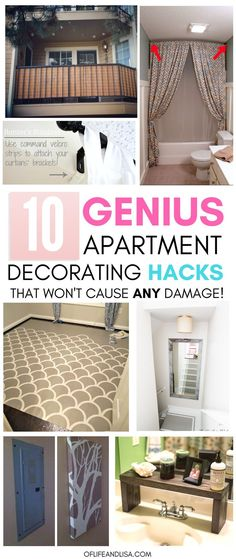 When decorating an apartment rental, you can save time and money by remembering these super helpful tips! ideas decoration 10 Incredibly Genius Apartment Decorating Hacks for Renters Boho Apartment, Apartment Hacks, Apartment Living, Diy Projects Apartment, Decorate Apartment, Living Room, Apartment Makeover, Diy Storage Apartment, Studio Apartment