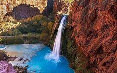 Havasu Falls | Supai Arizona. #LiveTravelChannel Photo by: @andersonklaiber by travelchannel