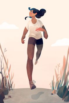 A runner girl