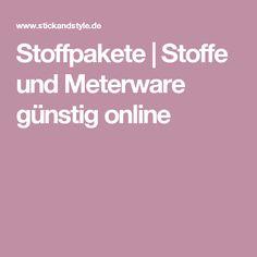 Stoffpakete | Stoffe und Meterware günstig online