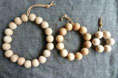 wood bead trivets DIY by AMM blog, via Flickr