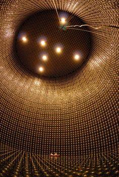 Super Kamiokande detector,   Kamioka Observatory, Japan