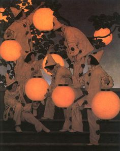 Maxfield Parrish, Lantern Bearers 1908 saw this http://www.americanillustration.org/