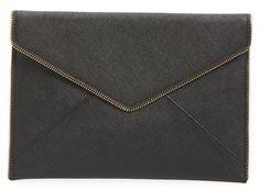 Rebecca Minkoff 'Leo' Envelope Clutch - Black ($95)