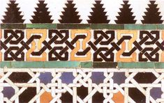 Colored tiled panels which also adorn other courts and halls, are a recurrent motif. In front of this impressive background, the sultan of the 14th century would grant his subjects an audience. - The Alhambra, Granada, Spain