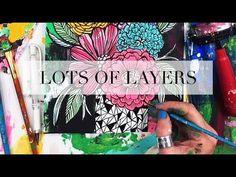 alisaburke: a peek inside my process: lots of layers Alisa Burke, Diy And Crafts, Arts And Crafts, Art Journals, Mixed Media Art, Flower Art, Canvas Art, Layers, Alcohol Inks