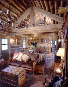Jack Hannau0027s Cozy Log Cabin In Montana | Electrical Work, Cabin And Log  Cabins