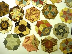 pieced hexagons for The Springwood Quilt Show 2013 Raffle Quilt. - Blue Mountain Daisy blog