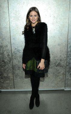 Olivia Palermo at the La Perla Fall 2013 presentation in New York via @POPSUGAR Fashion News