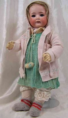 Heubach Ernst Köppelsdorf Dolls Porcelain head doll, girl with a